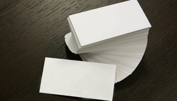 business cards blank stack desk design promo promotional items